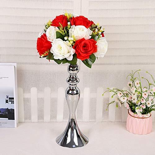 Watkings Metall Vase für Hochzeitsdekoration-Künstliche Blumenschmuck-Säule Kerzenhalter Ständer Set für Hochzeitsfeier Dinner Event Herzstück Wohnkultur (Kostüm Shop Alte Straße)