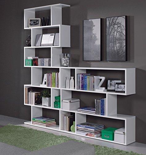 Ciara 3 6 Tier White Open Bookcase Set Tall Room