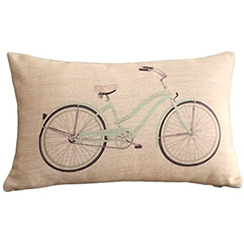Hidoon® Claro bicicletas impresión rectangular almohadilla de tiro de Cubiertas Cubiertas 30cmx45cm lumbar Cojines Ropa de cama y almohada