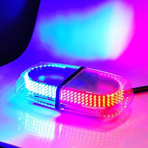 EGOERA reg; Auto Strobe LED Notfall Warnleuchte, 12V 240 LED Auto Dach Leuchtfeuer Leuchte/Warnlichter/Warnblinker mit Magnetbasis für Auto Anhänger Wohnwagen SUV, Rot Blau