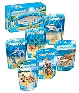 Playmobil Set 7 parties 9063 Enclos pour les animaux marins avec 9065, 9066, 9068, 9069, 9070, 9071