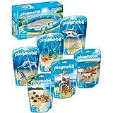 Playmobil Set 7 partes 9063 Piscina de la vida marina con 9065, 9066, 9068, 9069, 9070, 9071