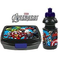 2 tlg. Set - AVENGERS - Brotdose + Trinkflasche - Motiv: Iron Man, Hulk, Thor, Captain America - Lunchbox / Brotzeitdose preisvergleich bei kinderzimmerdekopreise.eu