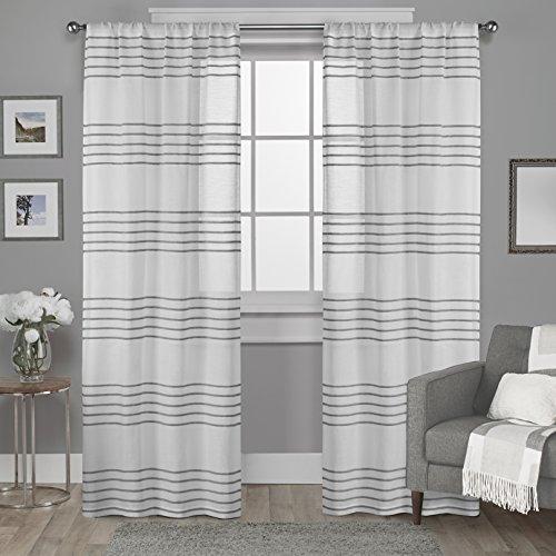 Rod Fenster-vorhang 108 (Exklusiv Home Vorhang Rod Pocket Top Fenster Vorhang, Polyester, silber, 54x108)