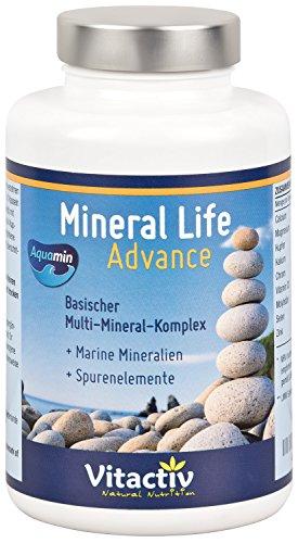 MINERAL LIFE Advance - Organische Mineralien mit AQUAMIN für gesunden Säure-Basen Haushalt (120 Kapseln)