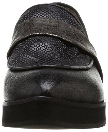 Now 2343, Chaussures de ville femme Noir (Sienna Nero Malindi Vesuvio)