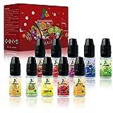 Hangboo 10 x 10ml E-Liquide pour Cigarette Electronique, VG70%/PG30% Eliquide sans Nicotine ni Tabac