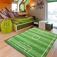 XGUO Tappeto per Bambini con campo di calcio per Giocare(130cm*100cm)