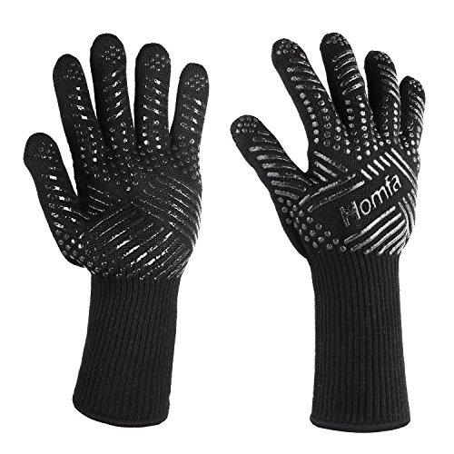 HOMFA Guantes de Cocina Guantes de Horno guantes multifuncionales para barbacoas, cocinar lavar Hornear Resistente al calor hasta 932°F( 500ºC)2PCS