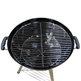 Kugelgrill Holzkohlegrill Standgrill Grill BBQ Smoker 47cm Ø Holzkohle Holzkohlegrill