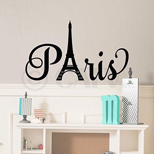 Paris mit Turm Vinyl Schriftzug Zitat Wand Spruch Aufkleber Aufkleber Art selbstklebend London Aufkleber 16.5