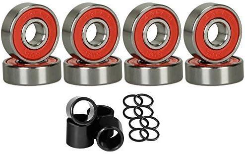 SCSK8 rosso Abec 9 Skateboard Bearings Set  4 Spacers Spacers Spacers by SCSK8 B00YFTQK7E Parent | Bassi costi  | Acquisti online  | Commercio All'ingrosso  | Prezzo Ragionevole  | Lascia che i nostri prodotti vadano nel mondo  | Prodotti di alta qualità  0650a5