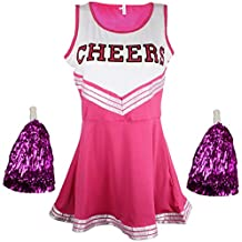 d20bdfbe2fa2f Cherry-on-Top - Uniforme da cheerleader con pompon