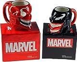 Set von 2Marvel Venom und Carnage Keramik große Kopf Tassen