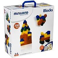 Miniland Blocks - Juego de bloques de construcción (300 piezas)