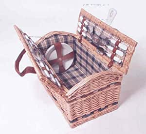 picknickkorb f r 4 personen aus weide k che haushalt. Black Bedroom Furniture Sets. Home Design Ideas