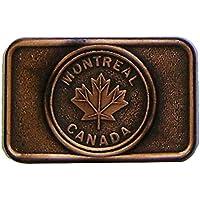 Modestone Montreal Canada Maple Leaf Copper Buckle O/S