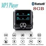 8 GB Reproductor de MP3 Sport Acuatico Bluetooth 4.2 Impermeable y IPX6 anti-sudor,Beatie Grabadora de MP3 Bluetooth con Clip de Deportes HIFI, FM + eBook + Repetidor + Grabación + MP3