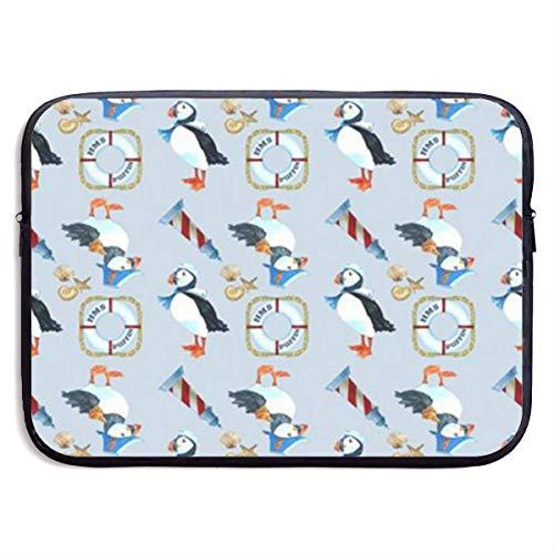 Papageientaucher Navy 13-15 Zoll Laptop-Hülle Tasche tragbare Dual-Zipper-Hülle Tasche Inhaber Tablet-Tasche, wasserdicht, schwarz, 13 Zoll Samsonite Laptop Roller