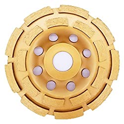 APLUS Diamond Grinder Disc 115mm 4.5'' / Diamond Cup Wheel for : Concrete, Marble, Granite, Natural stone (115mm)