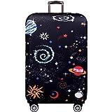 Galaxis Elastisch Kofferhülle Kofferschutzhülle Verdickende Kofferschutz Gepäck Cover Schutzbezug Luggage Cover Reisekoffer Hülle für 18-32 Zoll Koffer mit Reißverschluss M