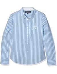 Tommy Hilfiger Dg Rope Dobby Shirt L/S, Blusa para Niños