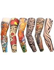 Autek Tatouage Bras Tatoo Collant Dessins (Tattoo-6pc-J)