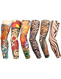 Autek Lot de 6 tattoowiert tatouage manches bras Manches Bas manches Colletion Set Sticker mural J