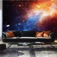 Custom Wallpaper 3D Solid Wall Mural Living Room Bedroom Wallpaper Non-Woven- Wall Mural Decoration Poster Picture Design Modern Cosmos Star Stars Galaxy,400Cmx280Cm