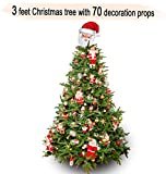 #9: TiedRibbons Christmas/xmas tree 3 feet with 70 Tree Hanging Ornaments | Christmas tree and decorations | Christmas tree for desk | xmas decoration items | xmas home decoration
