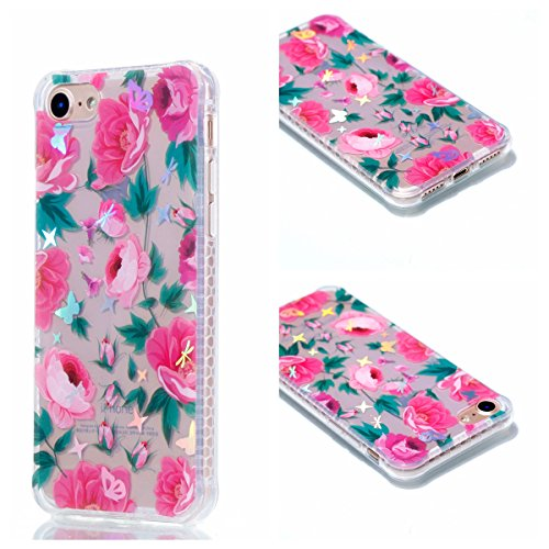 Cover iphone 7 / iphone 8, Custodia iphone 7 / iphone 8, Cozy Hut Premium Beautiful IMD Craft Gradient Color Design per iphone 7 / iphone 8 Cover Custodia Silicone Transparente Pulire Stampa TPU Back Peonia di farfalla