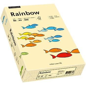 DIN A4 chamois 80g//m² 500 Blatt farbiges buntes Kopierpapier