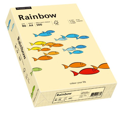 Papyrus 88042275 Drucker-/Kopierpapier farbig: Rainbow 80 g/m² DIN-A4, 500 Blatt Buntpapier, matt, chamois (beige) -