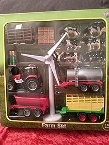 Kids Globe - Juego de granja, tractor con ruido, 1:50