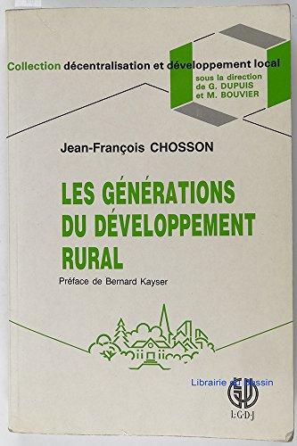 Les Générations du développement rural