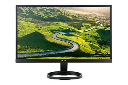 Acer R241Ybmid 23.8 inch Widescreen FHD ZeroFrame IPS LED Monitor - Black