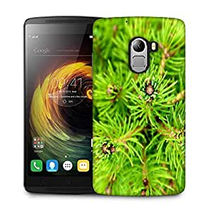Snoogg Green Small Leaves Designer Protective Phone Back Case Cover For Lenovo Vibe K4 Note