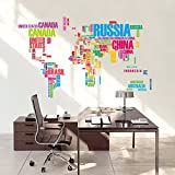 Ascent Wall Sticker For Living Room || World Map Wall Sticker || Wall Sticker For Office Decoration