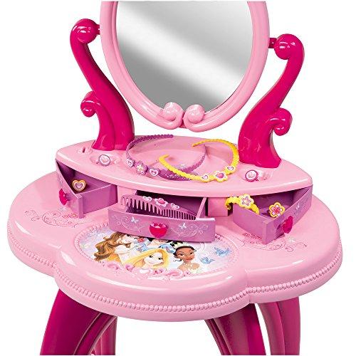Friesiersalon Disney Princess, 34×91 cm, mit großem Spiegel und Zubehör: Kinder Frisier Tisch Set Schminktisch Kosmetik Spielzeug - 4