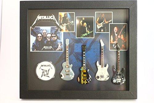 rgm8812Metallica guitarra en miniatura recogida en el marco de Shadowbox