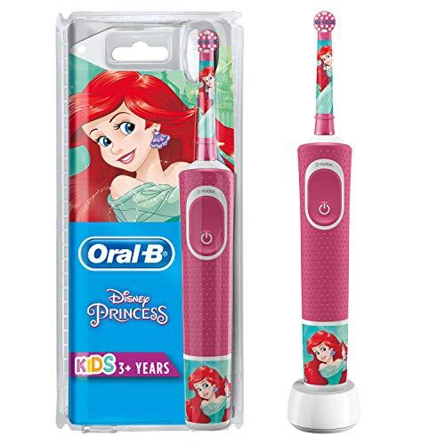 Oral-B Kids Prinzessin Elektrische Zahnbürste mit Disney-Stickern, für Kinder ab 3 Jahren, rosa