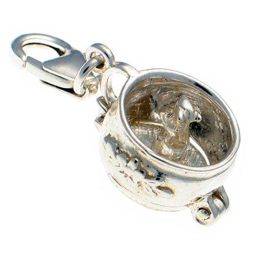Welded Bliss Sterling 925Silber Kammer Pot Of Secrets, Öffnung zum Maus, Anhänger oder Clip Charm wbc1383