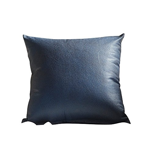 XNBZW Kissenbezug Kunstleder Sofa Taille Platz Kissenbezug Dekokissenbezug für Sofa Schlafzimmer Auto mit unsichtbaren Reißverschluss 45 cm * 45 cm A -