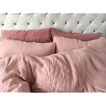 jowollina leinen bettw sche 100 natur leinen bettbezug 200x200 cm 2 kissenbez ge 40x80. Black Bedroom Furniture Sets. Home Design Ideas
