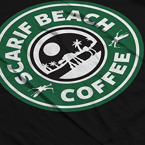 Star Wars Rogue One Scarif Beach Coffee Starbucks Logo Women's Sweatshirt Black