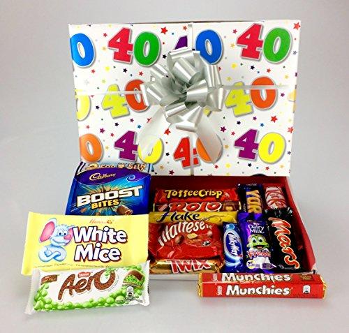 Happy 40th Birthday Large Chocolate Hamper Gift