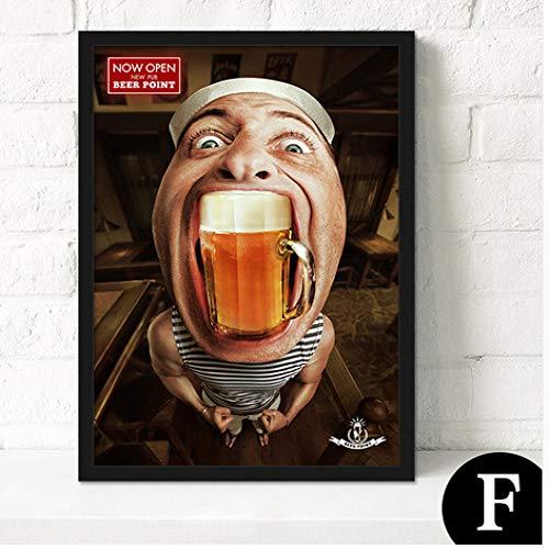 zxddzl Modernes Cafe Poster Malerei Kern rahmenlose Malerei dekorative Malerei Kern 23 40x50cm