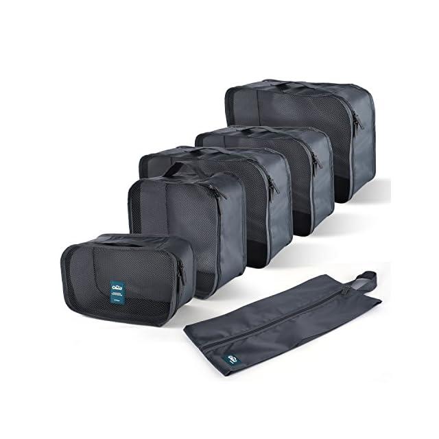 Oklm Lot de 6 Sacs de rangement bagages, Organisateurs valises, Accessoires Organisateurs Voyage, Très Résistants, Conçus en Toile de Parachute