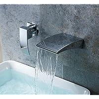 SBWYLT-Europeo moderno incasso doppio foro 2 piatti caldi e freddi acqua set di valvole di miscelazione di elettrodeposizione Miscelatore lavabo