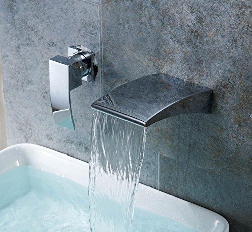 BLYC- Europeo moderno incasso doppio foro 2 piatti caldi e freddi acqua set di valvole di miscelazione di elettrodeposizione Miscelatore lavabo